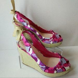 Coach Maritza Wedge Sandals Size 8.5B